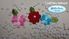 Flor Catavento - Mini Flor de Crochê Para Aplicação