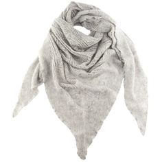 Black Dove Grey Italian Cashmere Lace Knit Triangular Scarf ($125) ❤ liked on Polyvore featuring accessories, scarves, shawl scarves, summer shawl, black scarves, triangular shawl and knit shawl