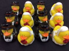 """Bride & Groom Wedding Rubber Ducks Lot of 6 doz or 72 pc Party favor Gift 2"""" - Favors & Party Bag Fillers"""