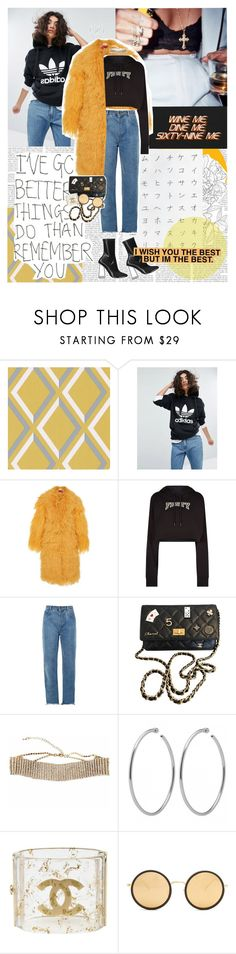 """I wanted a girl who was down to Earth but she want the god-damn sky. ♥"" by sssdmr ❤ liked on Polyvore featuring Cole & Son, adidas Originals, Saks Potts, Puma, Chloé, Chanel and Linda Farrow"