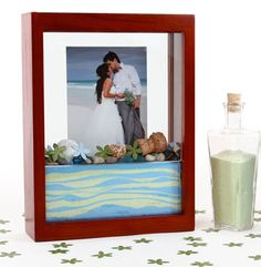 Forever Frame for sand ceremony.  Beautiful, practical, and transportable!