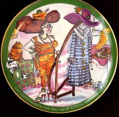 Danbury Mint Plate Cat Codependents by Ronnie Sellers & Jennifer Reinhardt stores.ebay.com/urbanreseller