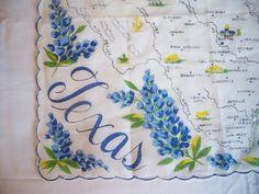 Vintage Handkerchief HANKY Hankie Cotton by hidenseektreasures