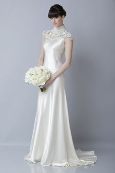 Wedding Dresses Chinese Inspired More Of A High Collar Than Qipao But I Like The Flow Dress