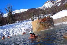 Lado externo da piscina termal do Gran Hotel termas de Chillan - Nevados De Chillán