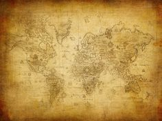 World map wall mural Old map of the world por StyleAwall en Etsy
