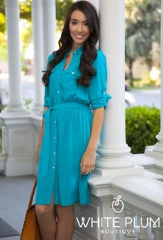 Oxford Street Dress Teal