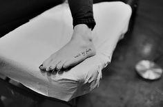 Walk by faith tattoo on foot!