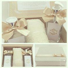 Kit Spa com sabonete liquido, aromatizador de ambiente e toalha de rosto em caixa personalizada - por Luciana Gritti