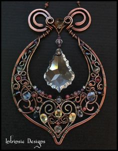 Wire Wrapped Fine Multi Gemstone and Crystal Indian by CathyHeery, $150.00