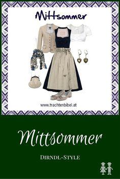 Wow! Ein toller Look! Strahlend und elegant in Dunkelblau und Taupe. Folge @trachtenbibel und erfahre Trends.