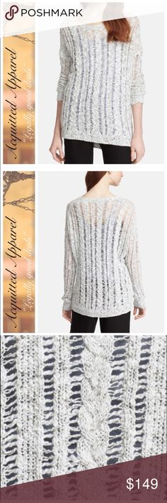 """🆕 VINCE. Cable Knit Sweater Details: - Crew neck - Long sleeves - Braided cable knit construction - Approx. 26"""" length. Retails for $325 Vince Tops"""