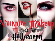 Vampire makeup ideas for Halloween. Finally the fad is over and I can be a Vampire!