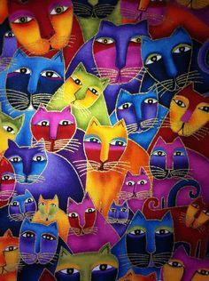 1 yd.   Laurel Burch cats 2012