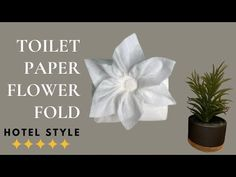 Toilet Paper Flowers, Toilet Paper Origami, Paper Origami Flowers, Toilet Paper Art, How To Make Paper Flowers, Paper Roses, Origami Folding, Origami Easy, Paper Folding