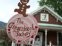 The Gingerbread Factory in my hometown (Leavenworth, WA) The best gingerbread...with the fluffiest light pink icing:)