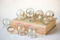 Mid century fire cupping set 10  glass cuppings by SovietEra