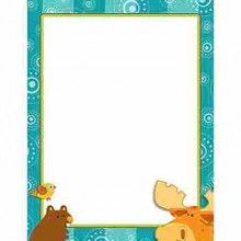 Moose & Friends Computer Paper - Use this charming Moose & Friends design to promote your classroom theme! So many uses to liven up projects, writing assignments, class newsletters and more! Add style to personalized awards, letters and lists--the possibilities are endless! Look for coordinating products in the Moose & Friends design to create an inviting and contemporary classroom theme! Comes in 50 sheets per pack.