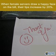 How to increase your tips Wtf Fun Facts, True Facts, Funny Facts, Random Facts, The More You Know, Good To Know, Waitressing Tips, Unusual Facts, Bizarre Facts