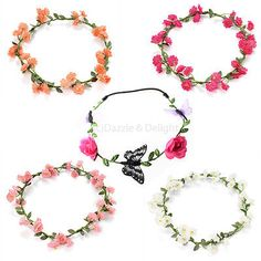#Flower head garland #crown #floral hair garland festival wedding holiday prom ha,  View more on the LINK: http://www.zeppy.io/product/gb/2/110829049592/