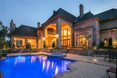 Gorgeous landscape & outdoor space. Built by Terry M. Elston, Builder's Design