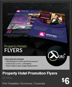 Property Hotel Promotion Flyers - Property Hotel is a corporate template for you hotel advertising business, travels and trips.