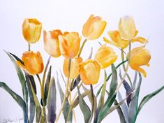 large paintings of tulips - Yahoo Image Search Results