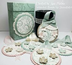 Today my project is this beautiful gift box and matching round Gift tags. I think it would make a lovely gift for someone special. All info and products i used is on my blog. There is also a YouTube Tutorial  http://www.annshappystampers.co.uk