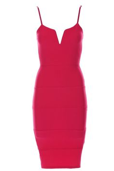 SEXY BODYCON PINK NEON PARTY COCKTAIL ABENDKLEID STRETCH ENG SOMMER M L 38 40