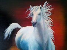 голубая лошадь масло