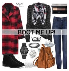 """Boot me up! - yoins 5.4"" by cly88 ❤ liked on Polyvore featuring Humble Chic, Burberry, NARS Cosmetics, FOSSIL, Yves Saint Laurent and Michael Kors"