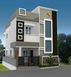 New House Front Elevation Design Indian Ideas House Front Wall Design, Single Floor House Design, Small House Design, Modern House Design, House Wall, Bungalow Haus Design, Duplex House Design, Duplex House Plans, Modern House Plans