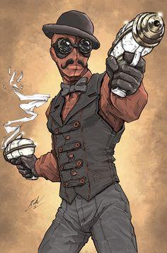 Ilustrações: Steampunk Heroes Fan Art | Nerd Da Hora