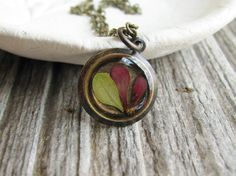 Small Leaf Necklace Pressed Leaf Preserved Plants Resin Botanical Jewelry Barberry Bush Dried Flower Nature Gift on Etsy, $26.00