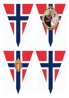 May Norwegian National Day – Free Printable Flag Banner Wings of Whimsy: FREE Printable Norwegian National Day Flag Banner - free for personal use Printable Designs, Free Printables, 17. Mai, Haitian Independence Day, Norway Viking, Norway Flag, May 17, Flag Banners, Printable Banner