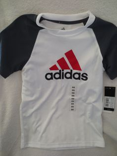 Adidas Boy Sport  Climacool shirt  White/Gray  Size Small 8 New