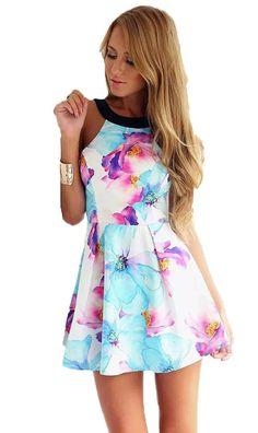 Vestido de Festa Summer Floral
