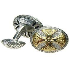 Oval Maltese Cross Cufflinks #GoldJewelleryDesign
