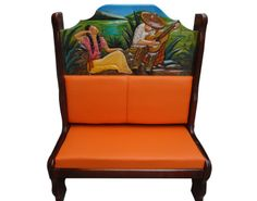 Booth Enamorados en Cerrito.  Descripción: Diseño: Enamorados en cerrito Color: Diseño Asiento: Vinil naranja  2 Personas