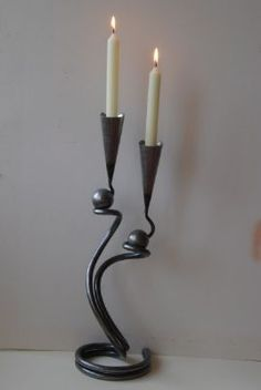 Belltrees Forge Double Ball candlestick
