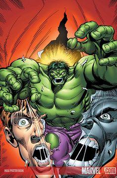 (hulk_posterbook) by: dale keown. (the * 5 Marvel Comics Art, Hulk Marvel, Marvel Heroes, Comic Book Covers, Comic Books Art, Book Art, Hulk Poster, Giant Monster Movies, Western Comics