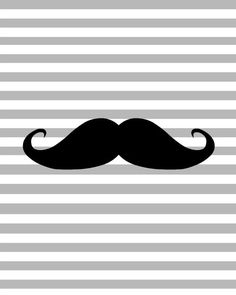Personalized Cool Mustache Iron On For Toddler Youth Adult
