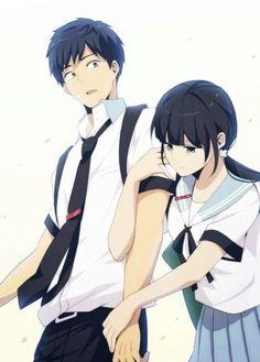 Hishiro y Kaizaki - ReLife Relife Anime, All Anime, Me Me Me Anime, Anime Love, Anime Art, Anime Stuff, Bunka Pop, Super Manga, Slice Of Life Anime