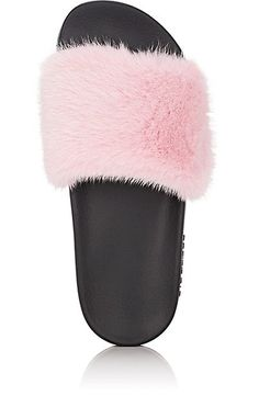 Givenchy Women's Mink Fur Slide Sandals - Flats - 505428158