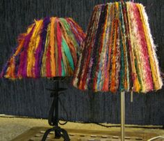 Part 1 -  How to make a sari ribbon lamp shade
