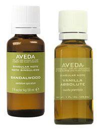 Aveda sandlewood and vanilla absolute oils