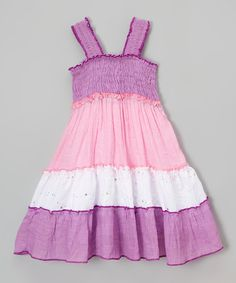 Look at this Lilac & Pink Tier Dress - Toddler & Girls on #zulily today!