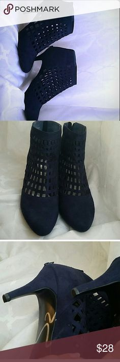 LMPO booties Brand new never worn. Fits 11-12 WIDE best!! Dark blue ! NOT TORRID JUST LISTED FOR EXPOSURE torrid Shoes Ankle Boots & Booties