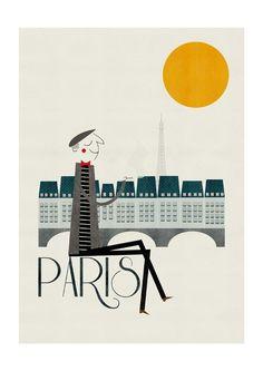 Paris print por blancucha en Etsy