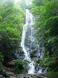 We stop here each time we visit Gatlinburg. It's an hour away in Cherokee, NC. This is a 200ft waterfall...just breathtaking!